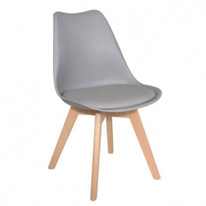 Designová židle SPRINGOS EIFFEL šedá