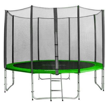 Trampolína SEDCO 305 cm s ochrannou sítí + žebřík zelená