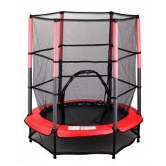 Dětská skákací trampolína SEDCO 139 cm s ochrannou sítí červená