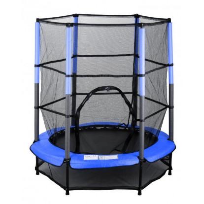 Dětská skákací trampolína SEDCO 139 cm s ochrannou sítí modrá