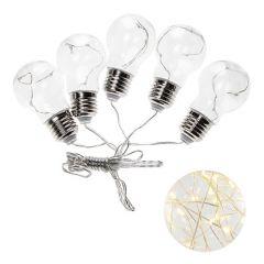 LED řetěz - Retro žárovky XXL 5ks, 4,5m, 150LED, teplá bílá, IP44