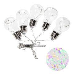 LED řetěz - Retro žárovky XXL 5ks, 4,5m, 150LED, multicolor, IP44
