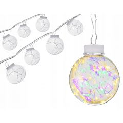 LED řetěz - Koule Edison 8ks, 96LED, multicolor, IP44