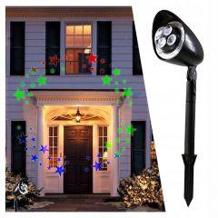 LED projektor Hvězdy - rotace, IP44
