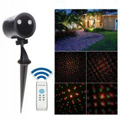 Laserový projektor Star Shower Profi - 9-funkcí, ovladač, časovač, IP44
