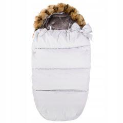 Zimní fusak s kožíškem 4v1 SPRINGOS PRESTIGE bílý