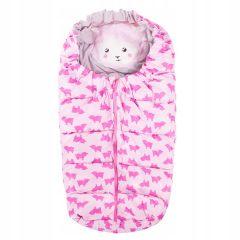 Zimní fusak 4v1 SPRINGOS COMBI růžový