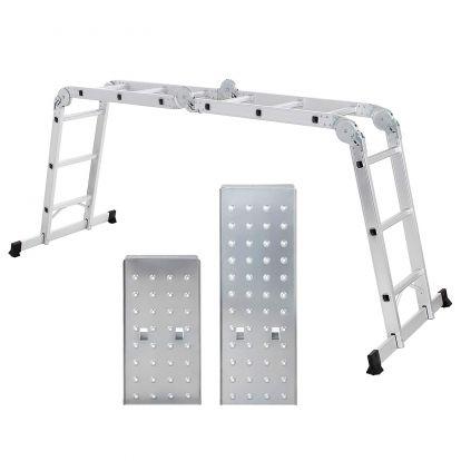 Hliníkový skládací žebřík s plošinou DRABEST DU4-3P PROFI 4x3 příčky kloubový