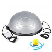Balanční podložka SPRINGOS BOSU 570 stříbrná