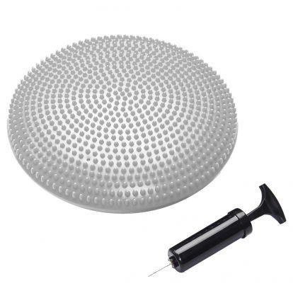 Balanční a masážní polštář s pumpičkou SPRINGOS MEDICAL stříbrný