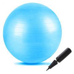 Gymnastický míč 55 cm SPRINGOS FIT modrý + pumpička