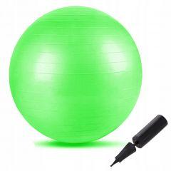 Gymnastický míč 65 cm SPRINGOS FIT zelený + pumpička