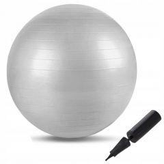 Gymnastický míč 75 cm SPRINGOS FIT stříbrný + pumpička