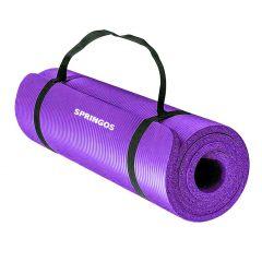Podložka na cvičení 180x60x1,5 cm SPRINGOS JOGA fialová