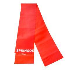Posilovací guma 2m SPRINGOS BELT HEAVY červená