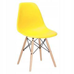 Designová židle SPRINGOS MILANO žlutá
