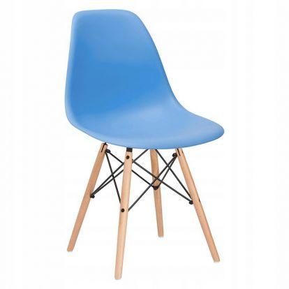 Designová židle SPRINGOS MILANO modrá
