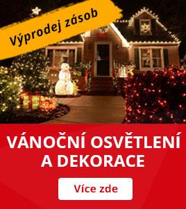 Vánoční osvětlení a dekorace